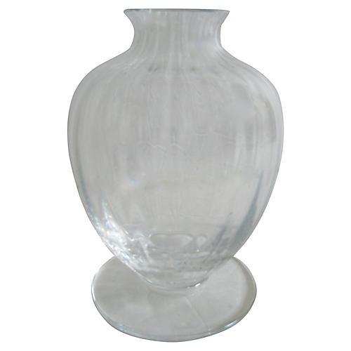 Baccarat French Crystal Vase w/Box