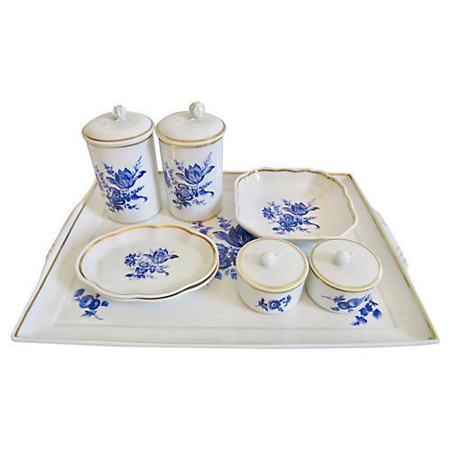 Ginori Italian Gilt Porcelain, 12 Pieces