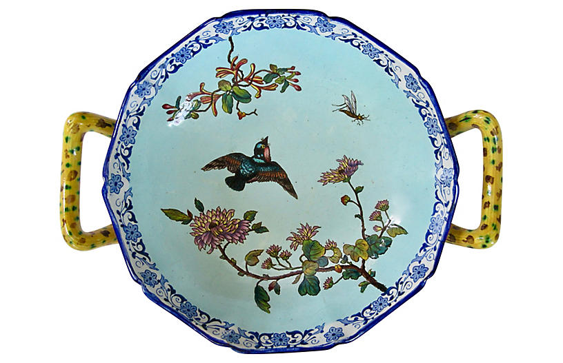 Antique Gien French Faience Bowl