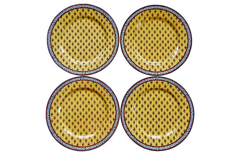 Provençal-Style Porcelain Plates, S/4