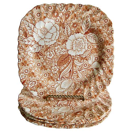 Tiffany & Co. English Chintz Plates, S/4