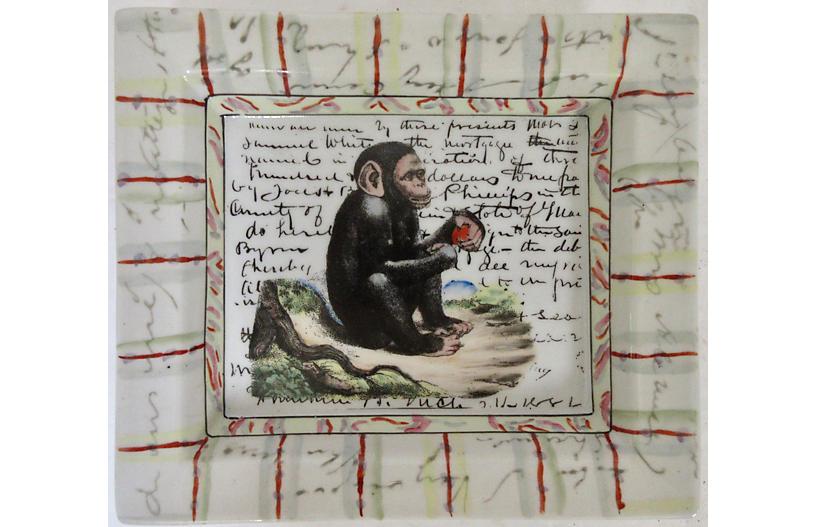 Porcelain Chimpanzee Tray