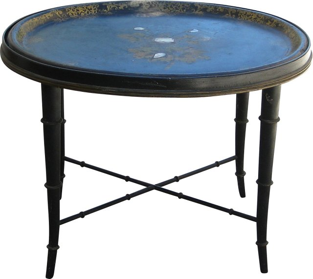 Antique Papier-Mâché Tray Table