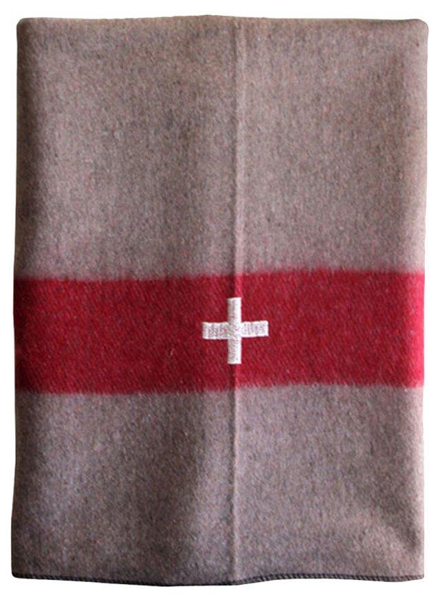 WWII-Era Swiss    Army Blanket