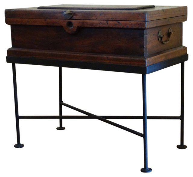 Carpenter's Side Table on Custom Stand