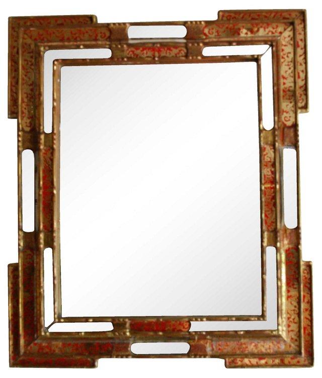Venetian Enameled Mirror