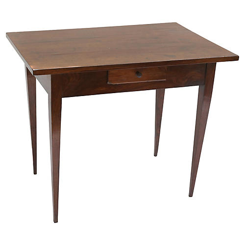 19th-C. Italian Directoire Walnut Table
