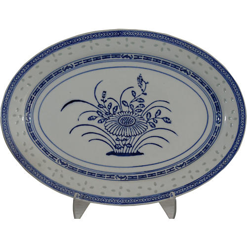 Chinese Basket Cabinet Platter