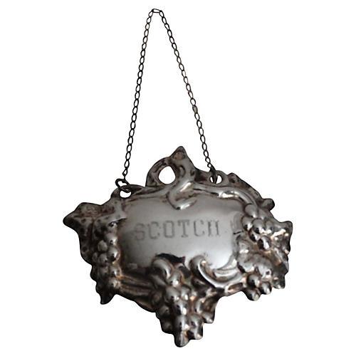 Silver Liquor Scotch Label