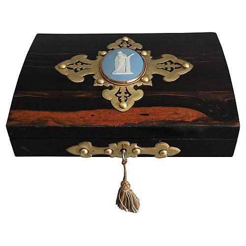 English Coromandel Playing Card Box