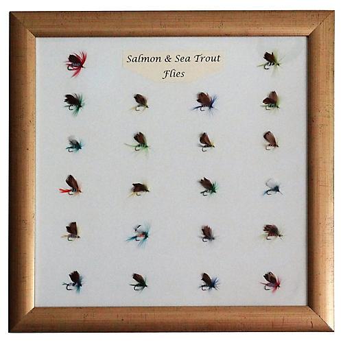 Mounted Salmon & Sea Trout Flies