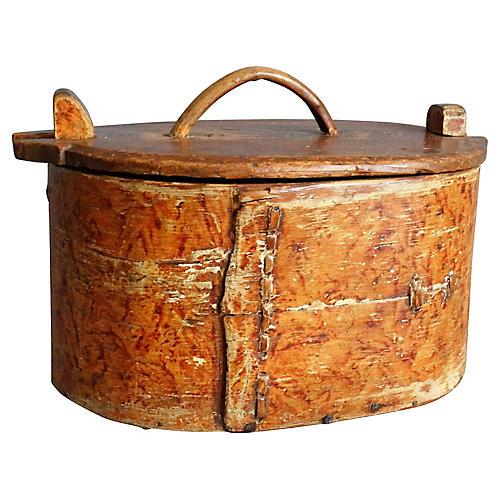 19th-C. Swedish Tine Box