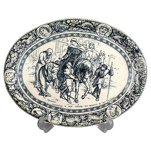19th-C. Wedgwood Ivanhoe Platter
