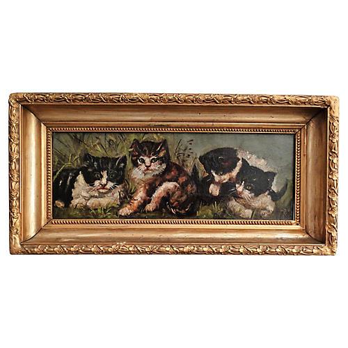 Four Kittens, C. 1900