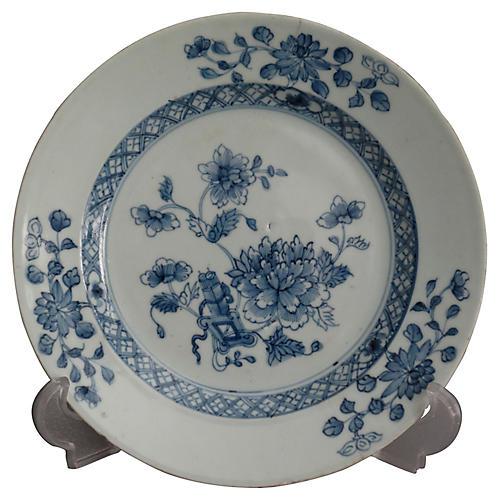 19th-C. Dutch Delft Chinoiserie Plate