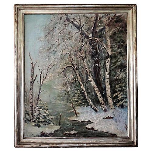 Landscape Oil Painting, C Baekeland