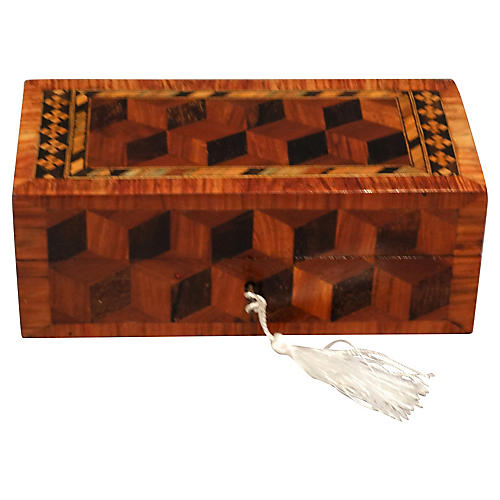 19th-C. English Pen Box w/ Key