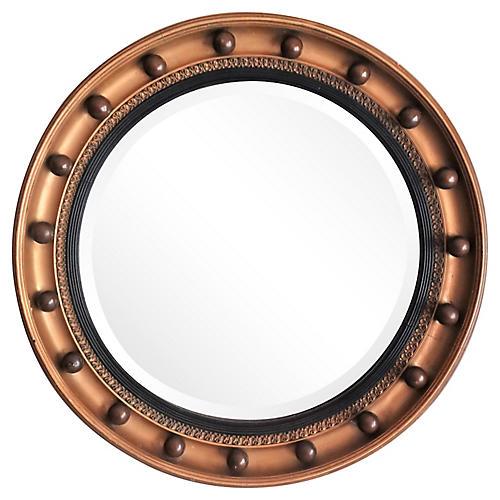 Beveled Convex Bullseye Mirror C 1930