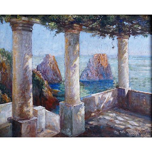 Impressionist-Style Capri Terrace