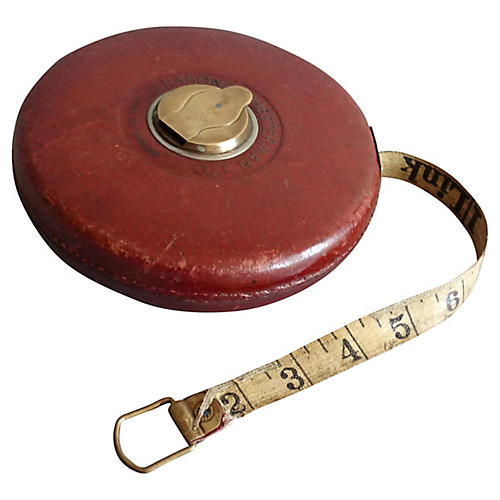 English Chesterman Leather Tape Measure