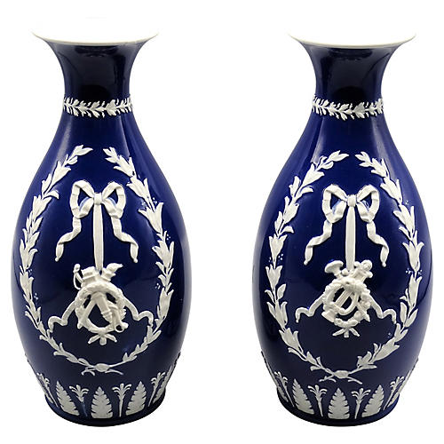 Wedgwood Vases, Pair