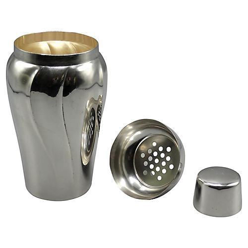 Silver-Plate Cocktail Shaker, 1930