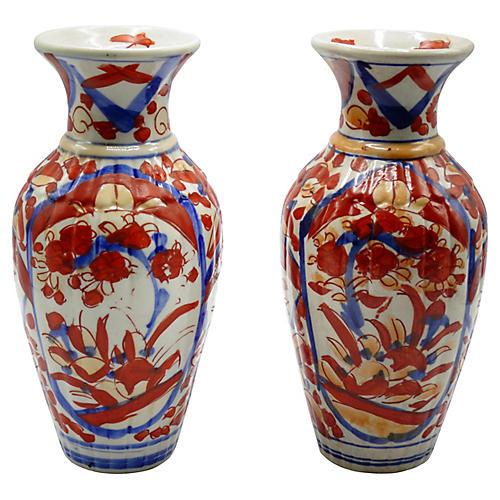 Japanese Imari Porcelain Vases, Pair