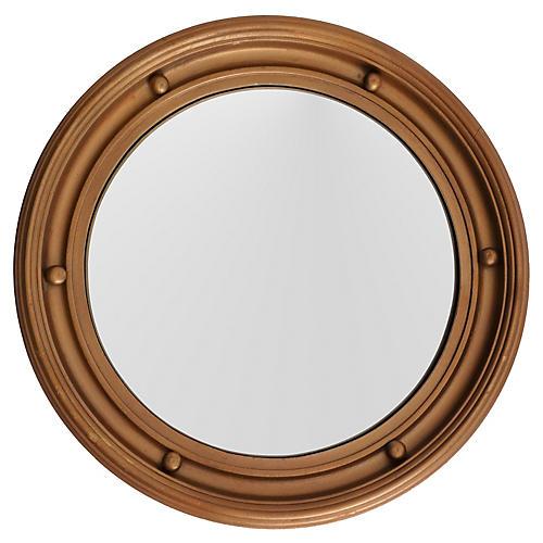 English Convex Bullseye Round Mirror