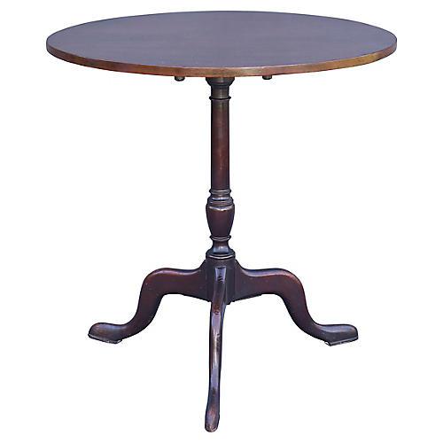 Antique Mahogany Tilt-Top Table