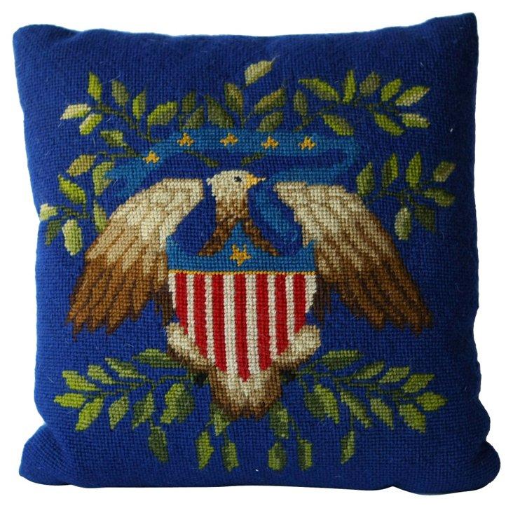 Americana Needlepoint Pillow