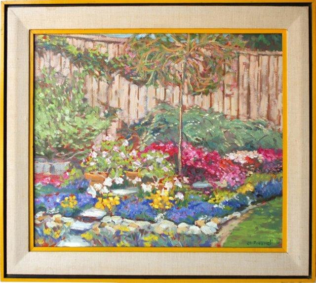 Post-Impressionist-Style  Garden