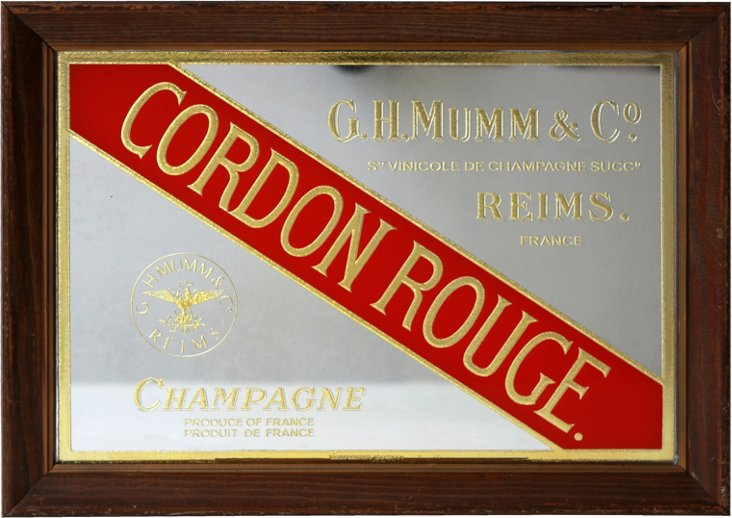 Cordon Rouge French Champagne Sign