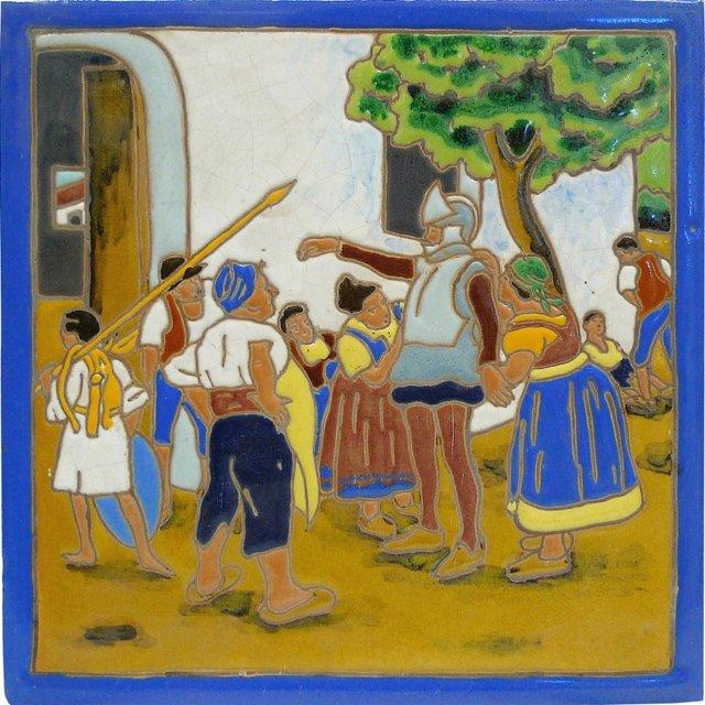 Antique Don Quixote Tile