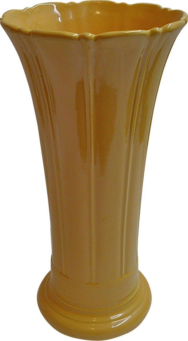 """12"""" Yellow Fiesta Vase"""
