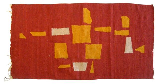 Geometric Handwoven Tapestry