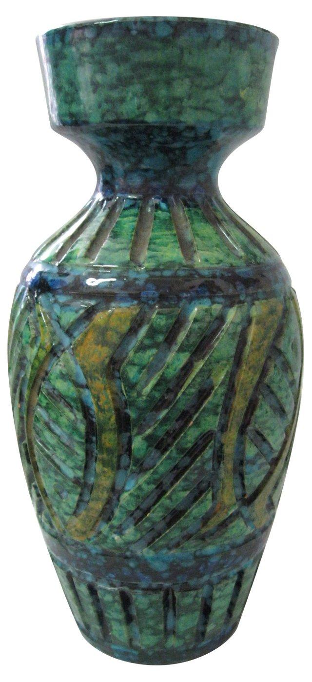 Italian Incised Ceramic Vase