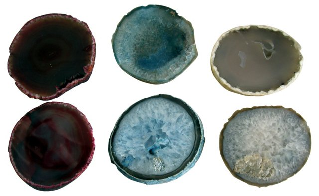 Geode Coasters, Set of 6