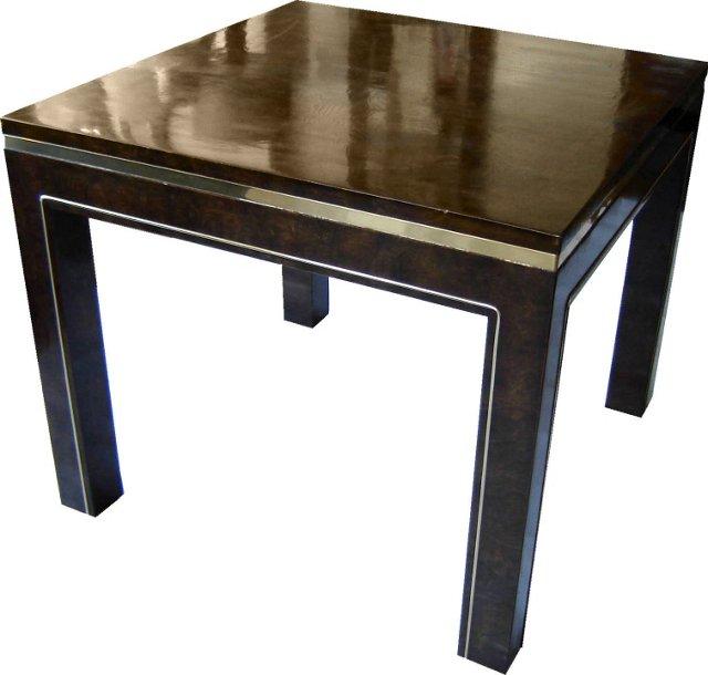 Mastercraft Burlwood & Brass End Table