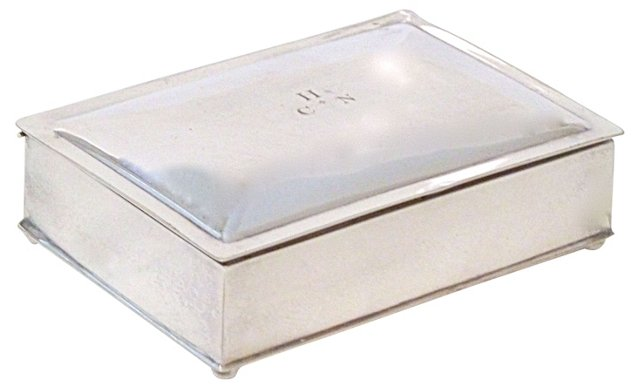 Silverplate Cigarette Box