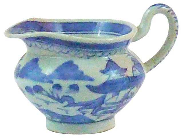 Blue & White Cantonese Pitcher