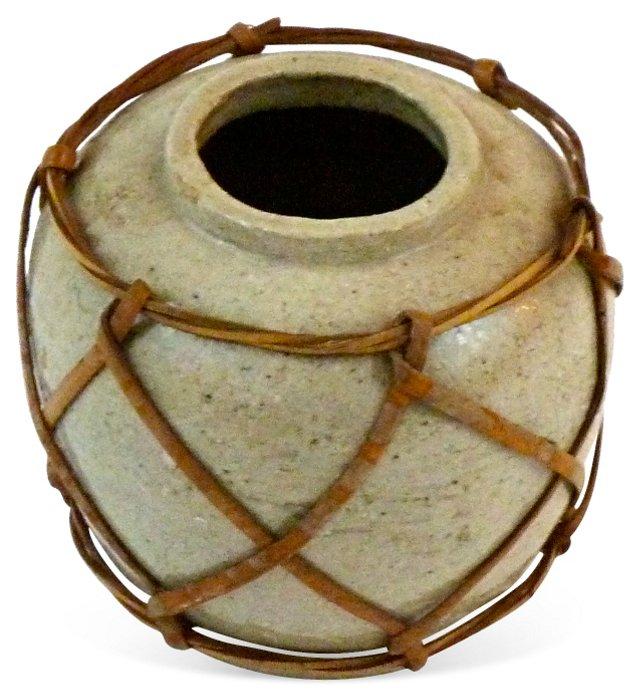 Ginger Jar w/ Basket Surround