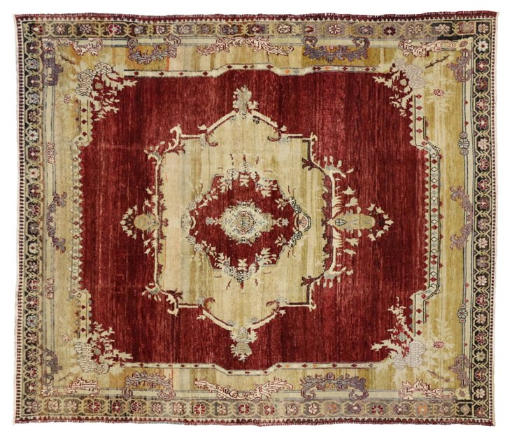 "Oushak Turkish Vintage Rug, 10'3"" x 8'9"""