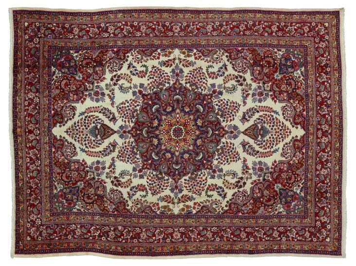 "Persian Khorasan Rug, 12'9"" x 9'7"""