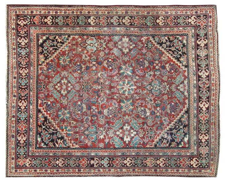"""Mahal Persian Antique Rug, 12' x 9'9"""""""
