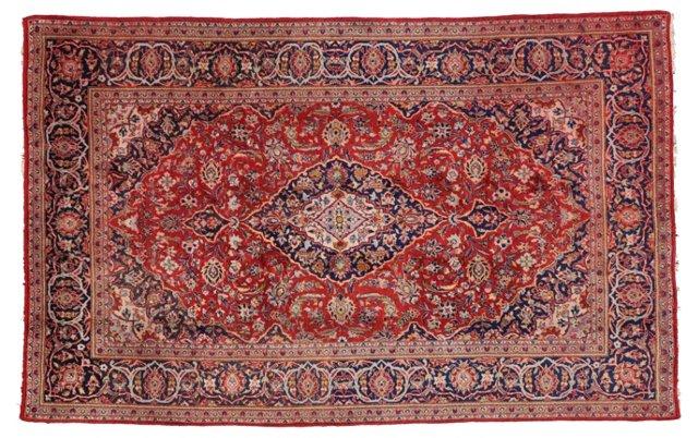 """Persian Kashan Rug, 6'10"""" x 10'9"""""""