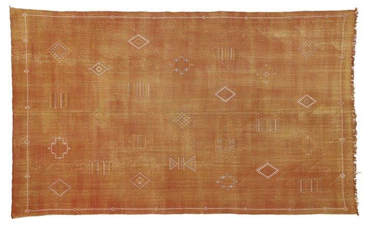 "Moroccan Cactus Silk Kilim, 7'6"" x 12'7"""