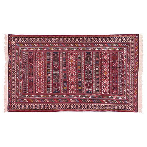 """Pink Persian Soumak Rug, 4'10"""" x 7'10"""""""