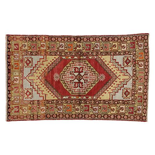 Turkish Oushak Rug, 3'8 x 6'3