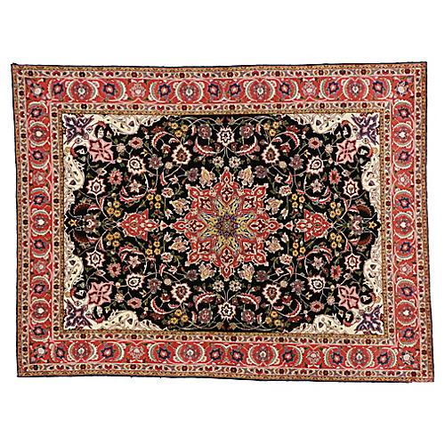 """Persian Tabriz Rug, 4'10"""" x 6'4"""""""