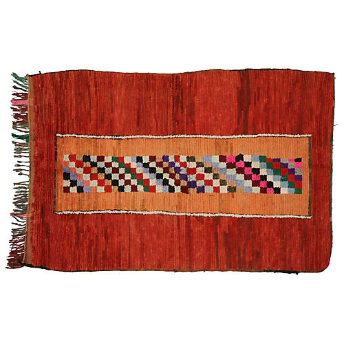 """Moroccan Berber Rug, 4'1"""" x 6'"""